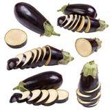 Imposti la frutta della verdura della melanzana Immagini Stock
