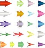 Imposti le frecce Fotografia Stock Libera da Diritti