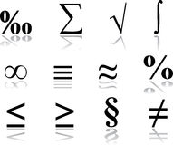 Imposti le icone - 17. Matematica Immagini Stock Libere da Diritti