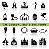 Imposti le icone cristiane illustrazione vettoriale