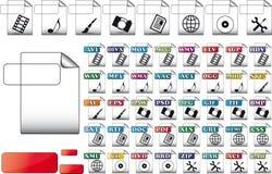 Imposti le icone dell'archivio di formato Immagini Stock Libere da Diritti