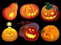 Imposti le zucche per Halloween Immagine Stock Libera da Diritti
