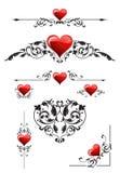 Imposti per il giorno dei biglietti di S. Valentino Fotografia Stock