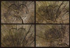 Imposti per il giorno del biglietto di S. Valentino con una forma del cuore Fotografia Stock Libera da Diritti