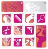 Imposti per il salone di capelli Fotografia Stock Libera da Diritti