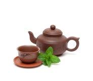 Imposti per la cerimonia di tè Immagine Stock