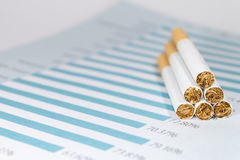 Imposto de cigarro fotografia de stock