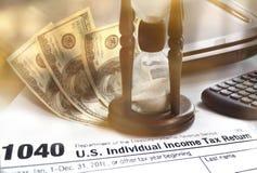 Imposto de renda individual Fotografia de Stock Royalty Free