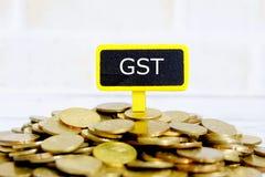 Imposto de serviço governamental GST Imagem de Stock Royalty Free
