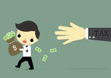 Imposto do medo do homem de negócios Imagens de Stock Royalty Free