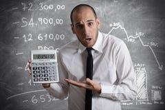 Imposto e crise Fotografia de Stock