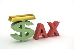 Imposto e dinheiro Imagens de Stock Royalty Free