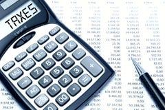 impostos Fotografia de Stock