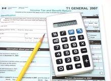 Impostos canadenses Foto de Stock