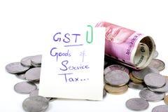 Impostos de Gst Fotos de Stock Royalty Free
