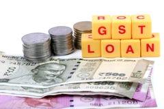 Impostos e empréstimo de Gst Foto de Stock Royalty Free