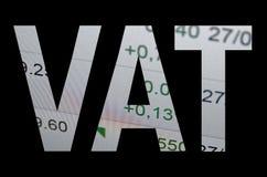Impostos sobre o valor acrescentado foto de stock