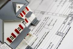 Impostos sobre os bens imóveis Foto de Stock