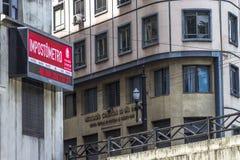 ` Impostrometro ` bij de Commerciële Verenigingsbouw royalty-vrije stock afbeeldingen