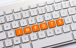 IMPOTS writing on white keyboard Royalty Free Stock Photo