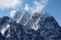 Impregnable summits, Himalaya, Nepal Royalty Free Stock Image