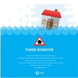 Impregnación constructiva bajo ejemplo del vector del desastre de inundación ilustración del vector