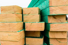 Impregnated wood for rafter Royalty Free Stock Photos