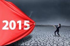 Imprenditore asiatico e numero 2015 Fotografia Stock Libera da Diritti