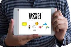 Imprenditore Business Venture Target ad espansione Marketi di scopi immagini stock libere da diritti