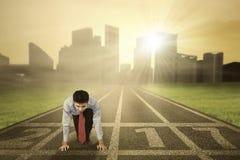 Imprenditore del Medio-Oriente pronto ad inseguire successo Fotografia Stock