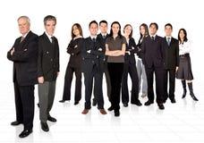 Imprenditori e la loro squadra di affari Fotografie Stock Libere da Diritti