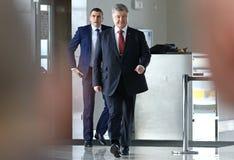 Imprensa-conferência de Ryanair no aeroporto de Kyiv-Boryspil, Ucrânia fotos de stock