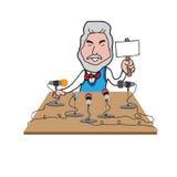 Imprensa da reunião do CEO ilustração do vetor