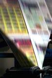 Imprensa de impressão do jornal fotografia de stock royalty free