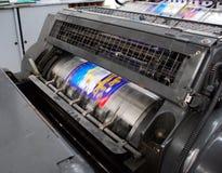 Imprensa de impressão velha imagens de stock
