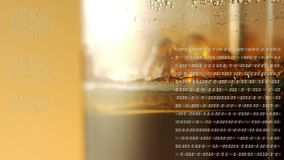 Imprensa de vinho com códigos binários filme
