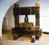 Imprensa de vinho de madeira Imagem de Stock Royalty Free