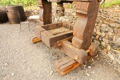 Imprensa de vinho de madeira Foto de Stock Royalty Free