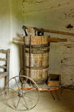 Imprensa de vinho de madeira velha Fotos de Stock Royalty Free