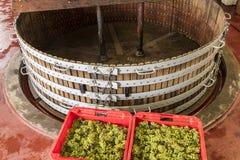 Imprensa de vinho em Dizy França Imagens de Stock Royalty Free