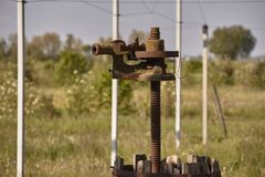 A imprensa de vinho oxidada velha 2 imagem de stock royalty free