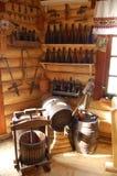 Imprensa e tambores de madeira imagens de stock