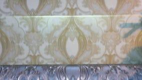 Imprensa impressa na f?brica do papel de parede, o processo de produzir o papel de parede vídeos de arquivo