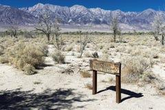 Imprensa livre de Manzanar, local histórico de Manzanar Imagens de Stock