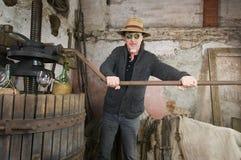 Imprensa velha do Winemaker imagem de stock royalty free