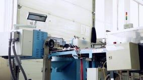 Imprensas da produção na impressão video estoque