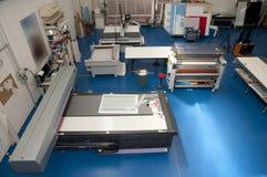 Imprenta con el trazador de gráficos del corte Fotografía de archivo