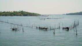 Impresa di piscicoltura nel mare Fotografie Stock Libere da Diritti