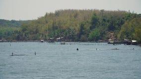 Impresa di piscicoltura nel mare Immagine Stock