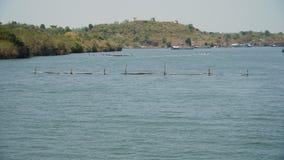 Impresa di piscicoltura nel mare Immagini Stock Libere da Diritti